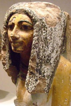 Bust of Egyptian Woman Dynasty 18 Thebes Sandstone |
