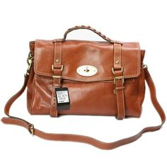 4eb0b0749a Womens Mulberry Oversized Alexa Leather Satchel Bag Light Coffee For  Wholesale