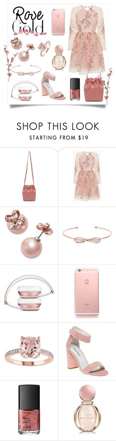 """All Things Rose Gold "" by jaeim ❤ liked on Polyvore featuring Mansur Gavriel, Chi Chi, Kate Spade, Ted Baker, Jeffrey Campbell, NARS Cosmetics, Bulgari and rosegold"