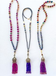 A personal favorite from my Etsy shop https://www.etsy.com/listing/253186442/elegant-beaded-tassels-on-semiprecious
