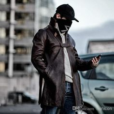 Watch Dogs Aiden Pearce Cosplay Coat Jacket Mask Hat Cap Mens Cool ...