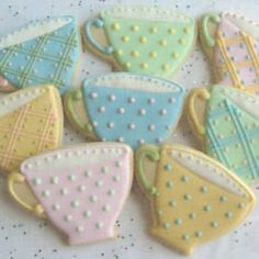 Cookies for a tea in shape of a teacup