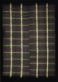 Africa | Wrapper from the Igbo people of Nigeria | Cotton, rayon | 20th century: