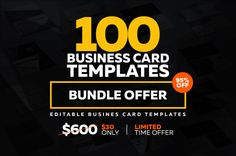 100 Super Business Card Bundle cool http://psdshare.com/100-super-business-card-bundle/    #businesscard #Stationery