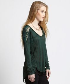 Look at this Free People Evergreen Gatsby Long-Sleeve Tee on #zulily today!