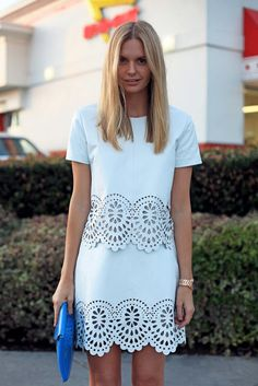 Cute white shift - love the cut out detail!