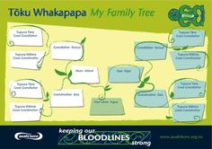 Whakapapa sheets for the profile book