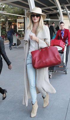 #rosie #street style #jeans wash #red purse