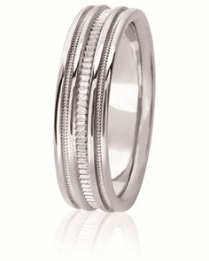 Unique Sandblasted Contoured Wedding Band With Mil