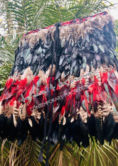 """Te Paea"" Adult Size Large Half Cloak Coque Feathers, Cloak, Your Design, Compliments, Things To Come, Beautiful, Collection, Mantle, Cape"