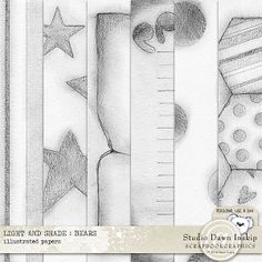 LIGHT AND SHADE : BEARS – ILLUSTRATED PAPERS http://shop.scrapbookgraphics.com/Light-and-Shade-Bears-Illustrated-Papers.html