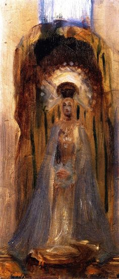 The Athenaeum - A Spanish Madonna (John Singer Sargent - ) Isabella Stewart Gardner Museum, 1879