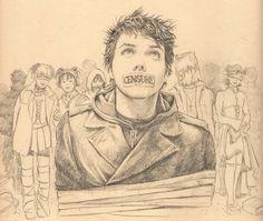 Gerard Way from MCR drawing
