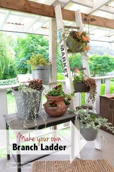 How to make your own ladder... with branches and 2x4s! By Funky Junk Interiors for Ebay