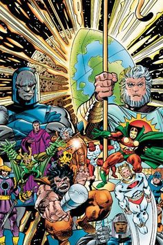 Will Darkseid's role in Justice League allow the New Gods to be introduced to the DC Extended Universe? Comic Book Artists, Comic Book Heroes, Comic Books Art, Comic Art, Jack Kirby, Dc Comics Characters, Dc Comics Art, Anime Comics, Blog Nerd