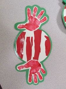 Handprint Peppermint (from Mrs. Karen's Preschool Ideas)