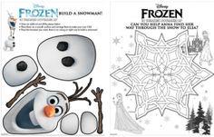 Free Disney's FROZEN Printable Activities