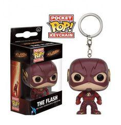 Llavero Flash, 4 cm. Serie The Flash Pocket Pop  Llavero de 4 cm basado en el personaje Flash, perteneciente a la serie de televisión, dentro de la línea Pocket Pop Funko.