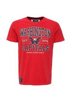 Футболка Atributika & Club™ NHL Washington Capitals Футболка Atributika & Club™. Цвет: красный.  Сезон: Осень-зима 2016/2017. Одежда, обувь и аксессуары/Мужская одежда/Одежда/Футболки