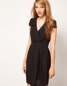 Enlarge A Wear Polka Dot Print Tea Dress