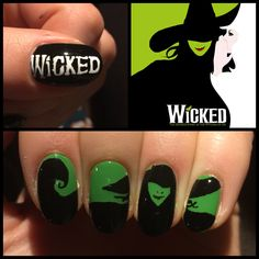 Wicked the musical nail art