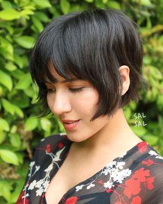 Asian Short Hair, Asian Hair, Short Hair Cuts, Bob Hair Cuts, Thin Hair Haircuts, Short Bob Hairstyles, Pretty Hairstyles, Retro Haircut, Modern Bob Haircut