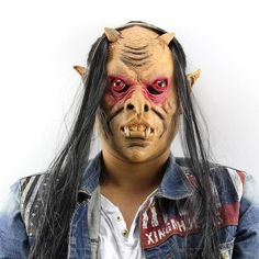 Horror Black Hair Zombie Halloween Masks | Masks | Pinterest ...
