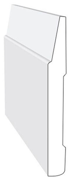 Mdf contemporary baseboard rona 1 2 x5 for Contemporary trim profiles