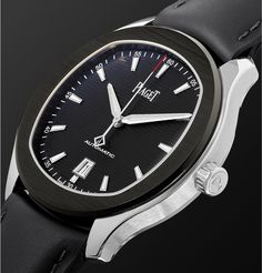 PIAGET Polo S Automatic 42mm Stainless Steel And Leather Watch