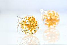 Real Flower Resin Earrings Real Flower Resin by CraftivityWorkshop, $23.00