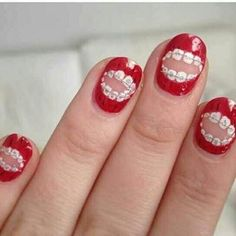 Cosmetic dentistry is generally used to refer to any dental work that improves the appearance (though not necessarily the function) of a person's teeth, gums Cute Nails, Pretty Nails, Hair And Nails, My Nails, No Ordinary Girl, Nail Art Photos, Brace Face, Dental Humor, Dental Hygienist