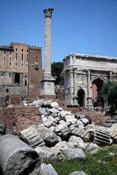 Forum ruins, Rome, Italy