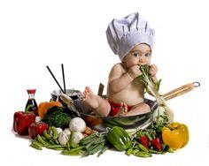 Baby Chef Portrait Art  by Lori Jill  www.LoriJill.me