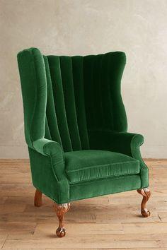 Velvet English Fireside Chair - anthropologie.com