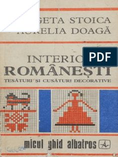 Interioare Romanesti - tesaturi si cusaturi decorative.pdf Romanian Food, Folk Fashion, Sewing Patterns, Clothes, Embroidery, Outfits, Clothing, Factory Design Pattern, Clothing Apparel