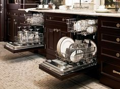 31 Insanely Clever Remodeling Ideas For Your New Home I love idea of two Dishwashers