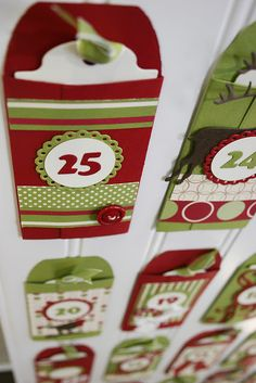 another way cool advent calendar idea...I think I need 6 more months before christmas :)