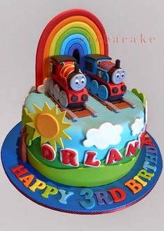 Thomas the Tank Engine & James Birthday Cake