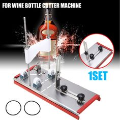Cutting Tool Kit Wine Glass Bottle Cutter DIY Recycle 2-10mm Beer Wine Jar Accurate Cutting Machine Stainless Steel Smoothly Cut. #Cutting #Tool #Wine #Glass #Bottle #Cutter #Recycle #10mm #Beer #Accurate Diy Recycle, Recycling, Glass Bottles, Wine Glass, Bottle Cutter, Cutter Machine, Construction Tools, Tool Kit, Beer
