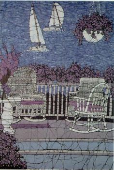 Porch Veiw of Crystal Lake Batik Print by Terri by TerriHaugenArt, $65.00