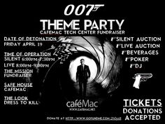 007 Fundraiser Party Theme - The look: Dressed to Kill