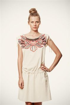 50 SALE Ivory Short Sleeve Ivory Strand Dress with by VandaFashion, $55.00