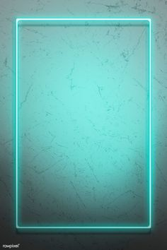 Green neon lights frame on a rustic wall mockup design | premium image by rawpixel.com / HwangMangjoo