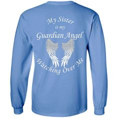 Sister Guardian Angel LS Ultra Cotton Tshirt