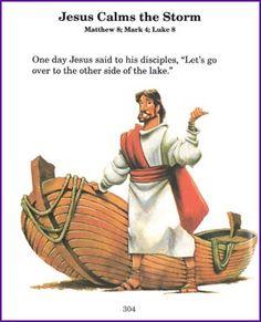 Jesus Calms the Storm (Story) - Kids Korner - BibleWise