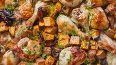Celebration Chicken with Sweet Potatoes and Dates: A simple one-pan Shabbat dinner that serves a small crowd | CBC Life Pan Cooked Chicken, Oven Baked Chicken, How To Cook Chicken, Shabbat Dinner, Vegetable Stew, Rice Dishes, Everyday Food, Meals For The Week, Sweet Potato