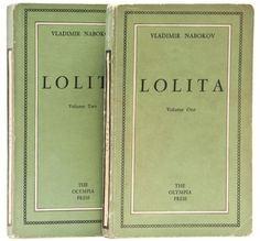Lolita Vladimir Nabokov.  Paris, Olympia Press, 1955.  2 vol., first edition, original wrappers, price 900 Francs on lower covers indicating first printing.  _____________________________________________You have to be an artist and a madman, a creature of infinite melancholy, with a bubble of hot poison in your loins and a super-voluptuous flame aglow in your subtle spine (oh, how you have to cringe and hide!), in order to discern at once, by ineffable signs—the slightly feline outline of a…