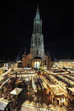 Weihnachtsmarkt im Münsterplatz - Ulm, Germany Been there many times