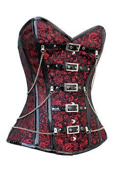 The Violet Vixen - Revolution Thorn Garden Red-Black Corset, $189.00 (http://thevioletvixen.com/corsets/revolution-thorn-garden/)