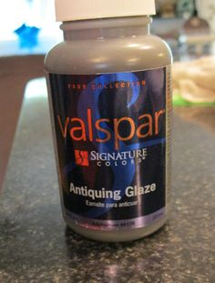 valspar antiquing glaze instead of dark wax......